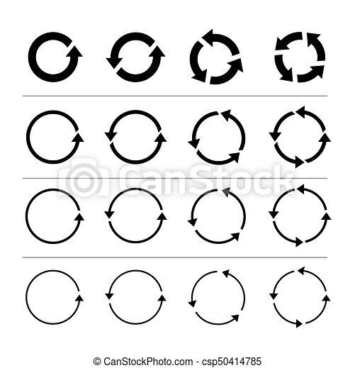 Sets of black circle arrows. Vector Icons - csp50414785
