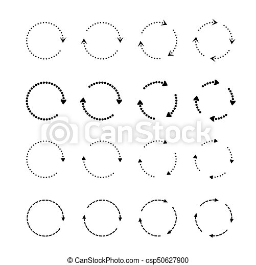 Sets of black circle arrows. Vector Icons - csp50627900