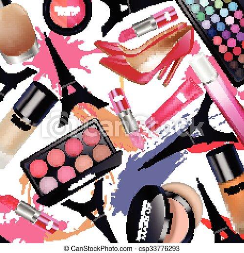 Sets of cosmetics - csp33776293