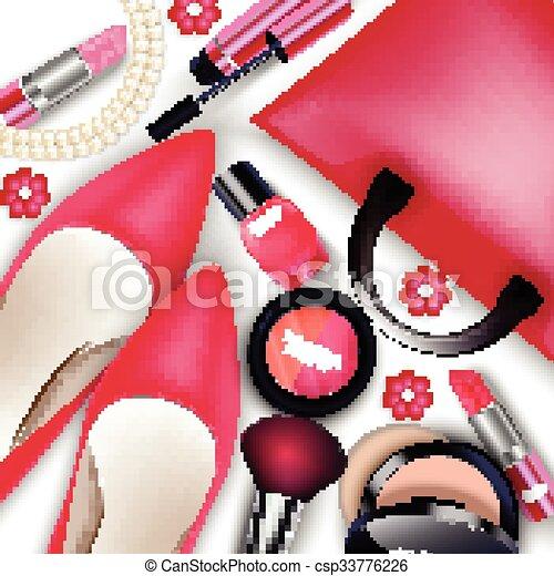 Sets of cosmetics - csp33776226