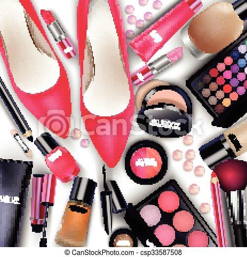 Sets of cosmetics - csp33587508