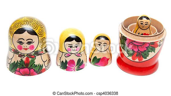 Sets of nesting dolls - csp4036338