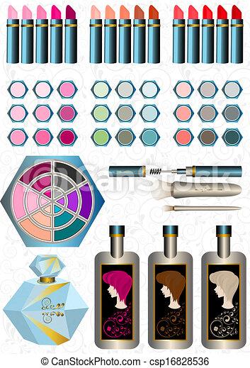 Sets women cosmetics - csp16828536