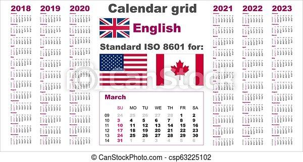 Calendario Americano 2021 Settimana, stati uniti, lingua, inglese, 2021, inizi, domenica