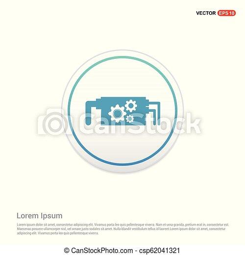 Setting Icon - white circle button - csp62041321