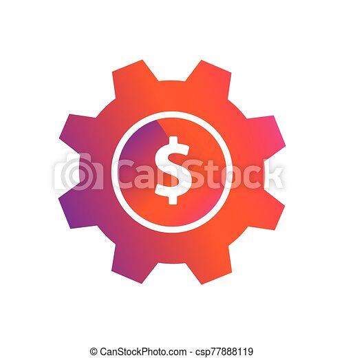 setting money dollar button vector icon - csp77888119