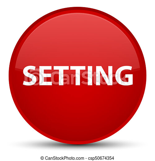 Setting special red round button - csp50674354