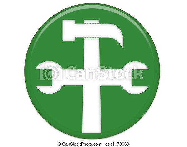 Settings Green Button - csp1170069