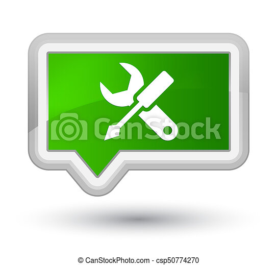 Settings icon prime green banner button - csp50774270