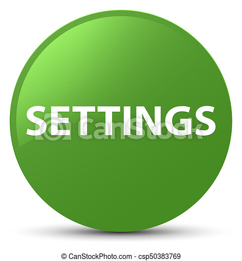 Settings soft green round button - csp50383769
