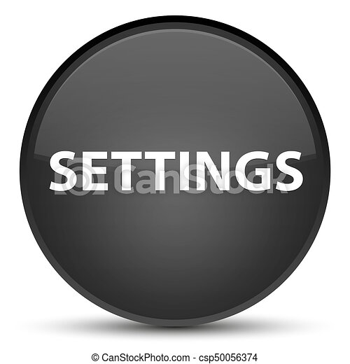Settings special black round button - csp50056374