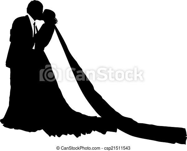 seu, casório, noivo, noiva - csp21511543