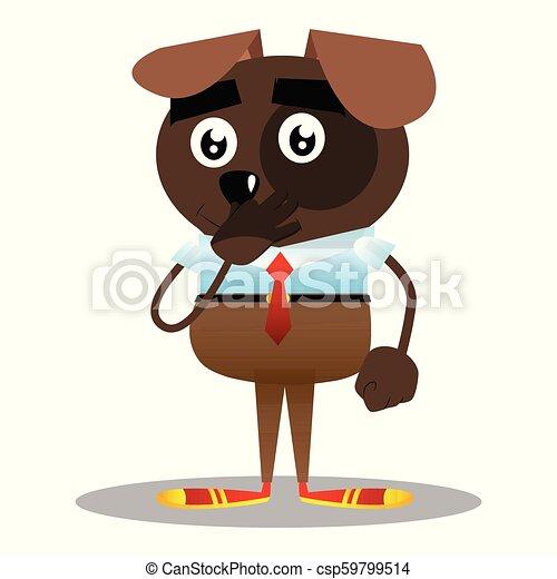 seu, negócio, cão, mau, because, participação nariz, smell. - csp59799514