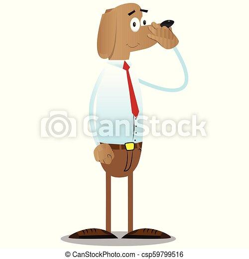 seu, negócio, cão, mau, because, participação nariz, smell. - csp59799516