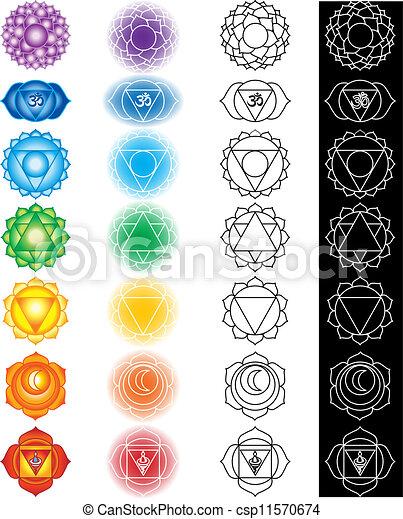 Seven chakras  - csp11570674