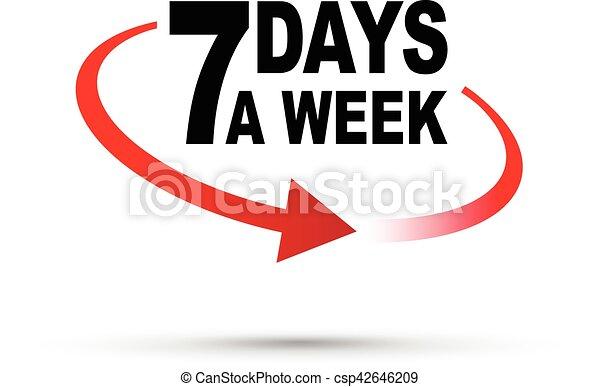 seven days a week around the clock - csp42646209