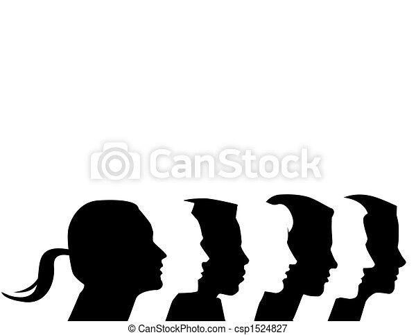 Seven diverse vector profiles - csp1524827