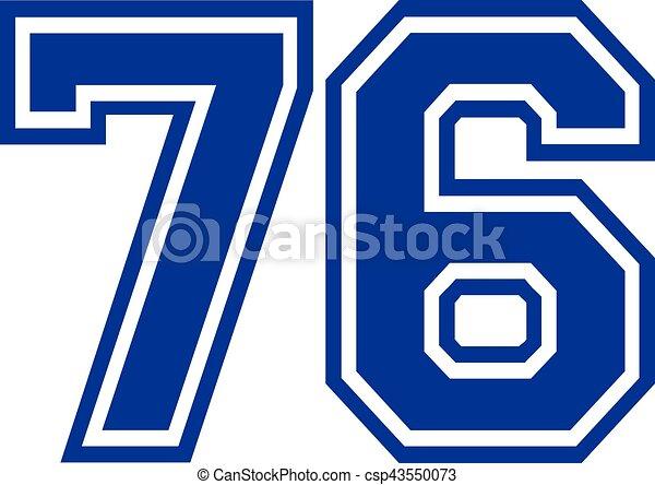 seventy six college number 76