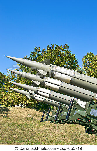 Several combat missiles aimed - csp7655719