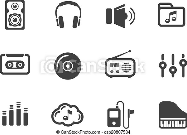 Several music themed icons - csp20807534