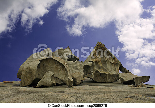 Several of the Remarkable Rocks on Kangaroo Island, Australia - csp2069279
