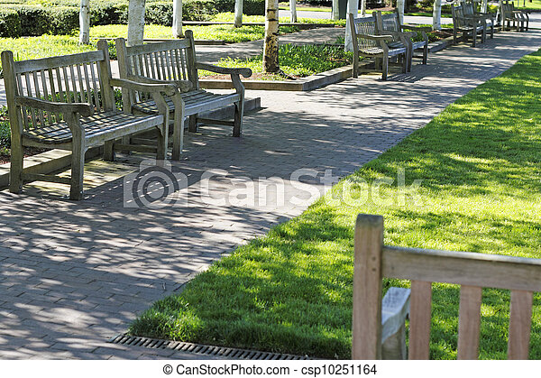 Several Wood Benches - csp10251164