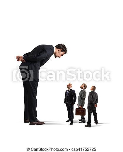 Severe boss humiliates his employees - csp41752725
