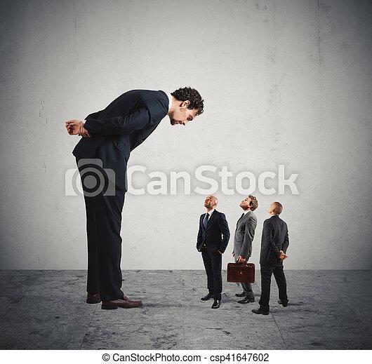 Severe boss humiliates his employees - csp41647602