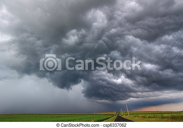 Severe Thunderstorm in Illinois - csp6337062
