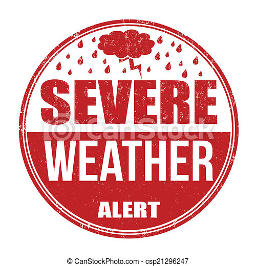 Severe weather alert stamp - csp21296247