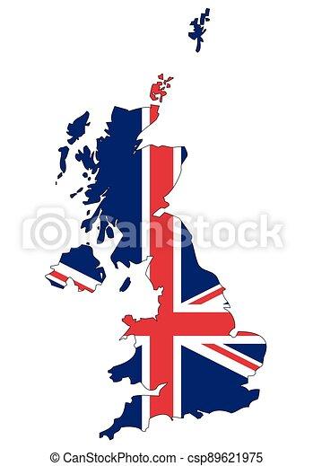 severní, důležitý, království, -, celostátní mapovat, nárys, state flag, británie, irsko, sjednocený - csp89621975