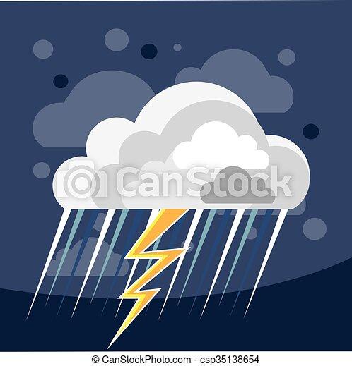 Un icono de tormenta severa - csp35138654