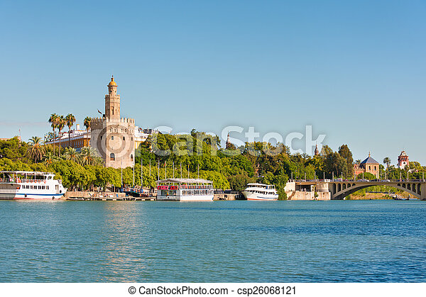 Seville in a sunny summer day - csp26068121