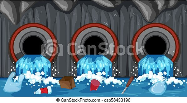 Sewer Pipe System From Household - csp58433196