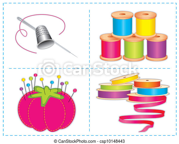 Sewing Accessories, Brights - csp10148443
