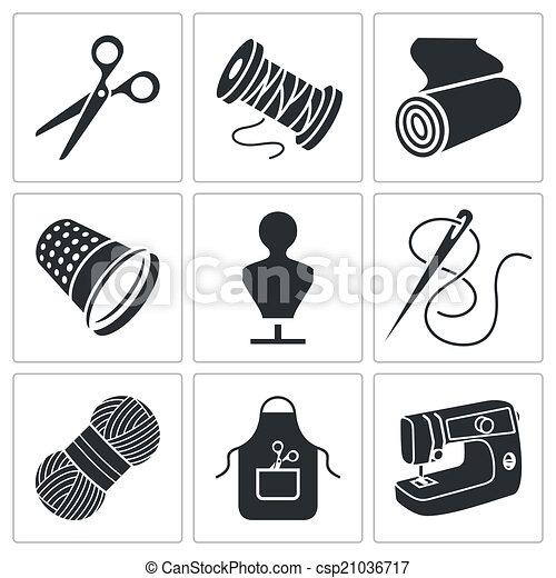 Clothing Factory Illustration Black White