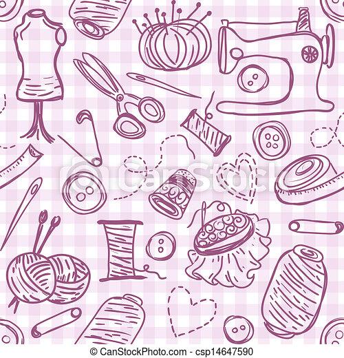 Sewing doodles - csp14647590