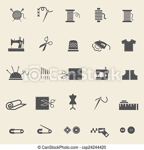 Sewing  icons - csp24244420