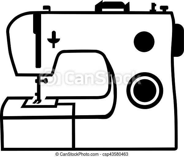 sewing machine rh canstockphoto com sewing machine clipart free sewing machine clip art images