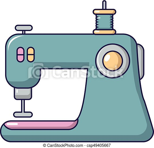 sewing machine icon cartoon style sewing machine icon clip art rh canstockphoto com sewing machine clipart black and white sewing machine clipart images