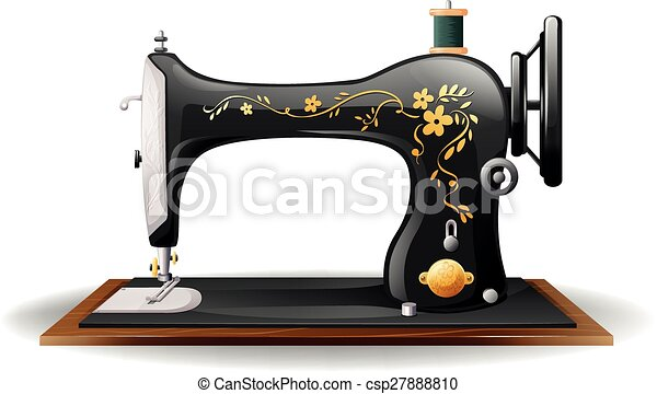 sewing machine close up classic design of sewing machine rh canstockphoto com vintage sewing machine clipart vintage sewing machine clipart