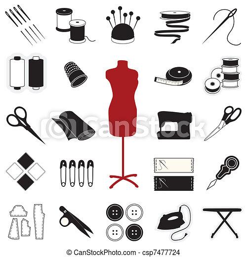Sewing & Tailoring Icons - csp7477724