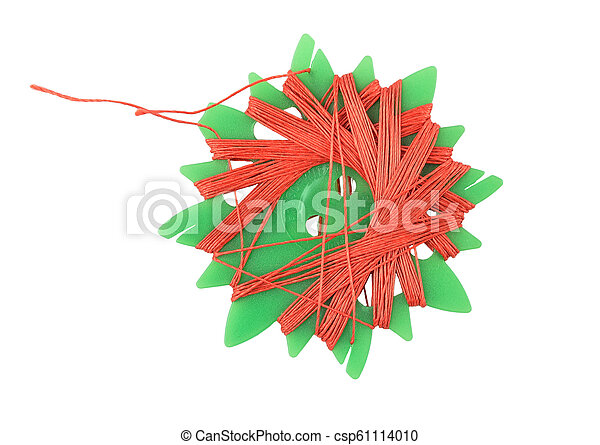 Sewing thread on white background - csp61114010