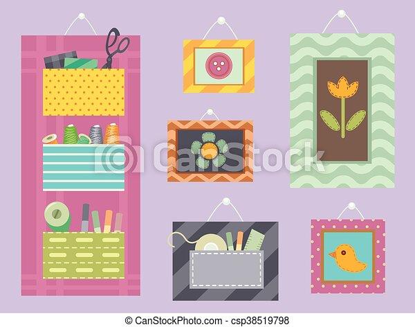Sewing Tools Frames - csp38519798