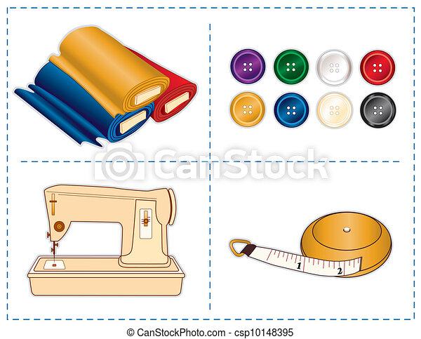 Sewing Tools, Jewel colors - csp10148395