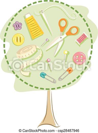 Sewing Tree - csp28487946