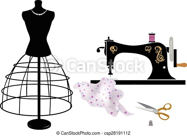 Do It Yourself Sewing Items Vector Illustration Vector