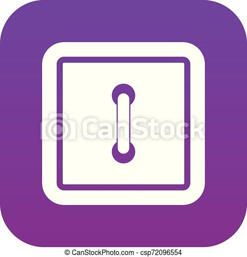Sewn square button icon digital purple - csp72096554