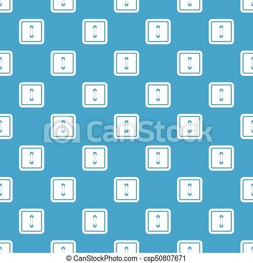 Sewn square button pattern seamless blue - csp50807671