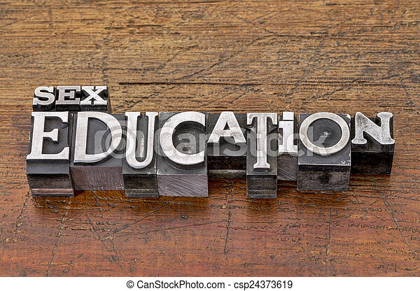 sex education in metal type - csp24373619